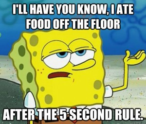 5 Second Rule SpongeBob
