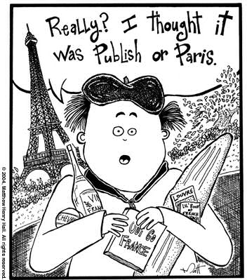 Publish or Paris Cartoon